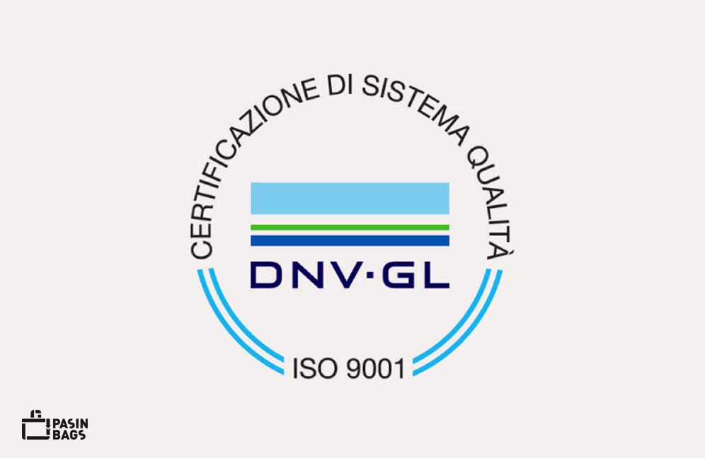 Certificazione ISO 9001 - Pasin Bags